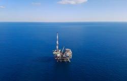 Booreiland op zee - luchtmening Stock Fotografie