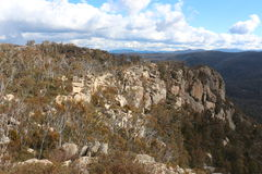 Booroomba Rocks. A picture of the booroomba rock cliffs outside Canberra stock images