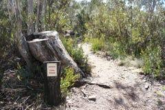 Booroomba Rocks trail Australia. A picture of a bush trail in the Australian Capital Territory bush stock images