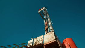 Boorrig oil industry stock footage