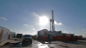 Boorrig oil industry stock video