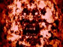 Boos bloedig lijkenetende geestgezicht Rode achtergrond royalty-vrije illustratie