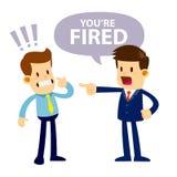 Boos Chef- Fired His Employee vector illustratie