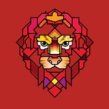 Boos Lion Head Logo, Teken, Vectorontwerp, Illustratie, Templa stock illustratie