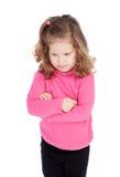 Boos meisje in roze Royalty-vrije Stock Afbeeldingen