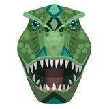 Boos t -t-rex roofvogel hoofdembleem Vector decoratief Embleem royalty-vrije illustratie