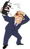 Boos Telefoongesprek royalty-vrije illustratie