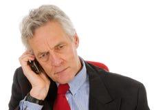 Boos telefoongesprek Stock Foto's