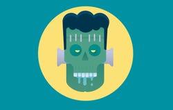 Boos zombiekarakter De affiche van Halloween stock illustratie