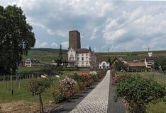 The boosenburg in Ruedesheim on the Rhine river Stock Photo