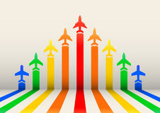 Boost airplanes Royalty Free Stock Photo