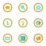Boost app icons set, cartoon style Stock Photo