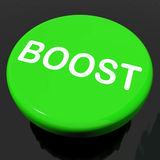 Boost Button Shows Promote Increase Encourage. Boost Button Showing Promote Increase Encourage Royalty Free Stock Photography