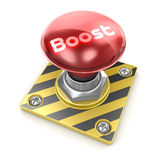 Boost. 3d render. Boost alarm button Royalty Free Stock Photos