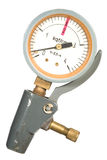 Boost gage. Motor-car pressure gage on white royalty free stock image