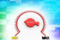 Boost meter illustration Royalty Free Stock Images