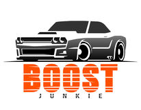 Boost muscle car t-shirt graphics Royalty Free Stock Photo