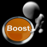 Boost Pressed Means Improvement Upgrade Or Expansion. Boost Pressed Meaning Improvement Upgrade Or Expansion Stock Photography