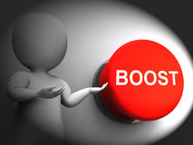 Boost Pressed Shows Imrovement Upgrade And Better Royalty Free Stock Photo