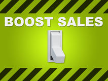 Boost Sales concept Royalty Free Stock Images