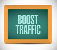 Boost traffic board sign illustration design Stock Photos