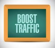 Boost traffic board sign illustration design Stock Photos