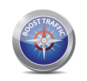 Boost traffic compass illustration design. Over a white background Stock Image