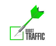Boost traffic dart check mark illustration design. Over a white background stock photography
