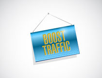 Boost traffic hanging banner illustration design Stock Photo