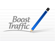 Boost traffic message sign illustration design Royalty Free Stock Photos