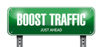 boost traffic road sign illustration design Royalty Free Stock Photography