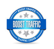 Boost traffic seal illustration design Stock Photography