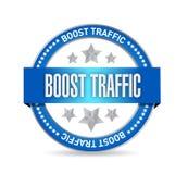 boost traffic seal illustration design Stock Photography
