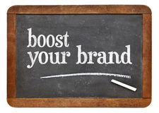 Boost your brand on blackboard Stock Photos