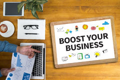 BOOST YOUR BUSINESS Stock Image