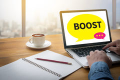 BOOST YOUR BUSINESS Royalty Free Stock Photos