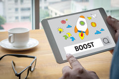 BOOST YOUR BUSINESS Royalty Free Stock Images