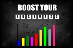 Boost your business message Stock Images