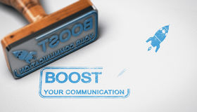 Boost your Company Communication, Advertising Concept Stock Image