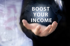 Boost your income royalty free stock image