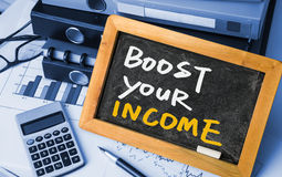 Boost your income Royalty Free Stock Photos