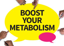 BOOST YOUR METABOLISM Stock Photography