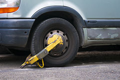 Boot. Close up of a car booted stock image