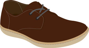 Boot. Brown boot isolated on white. Vector illustration Royalty Free Stock Image