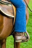 Boot. Close up on a shouth american gaucho boot royalty free stock photo