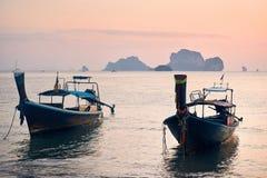 Boot in Andaman-Meer stockbild