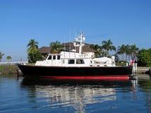 Boot angekoppelt in Südflorida Stockbild