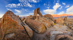 Boot arch at Alabama hills Royalty Free Stock Photography