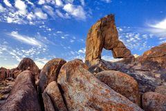 Boot arch at Alabama hills Stock Image
