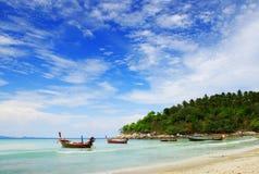 Boot auf Andaman Meer Stockfotos